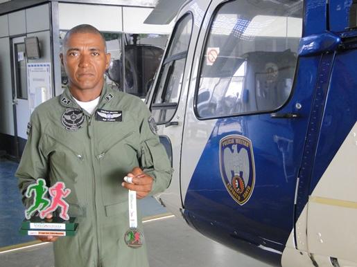 Sargento da PMES participa do Desafio Vitória Anchieta e fica em terceiro lugar.