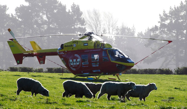 Helicóptero aeromédico efetua pouso de emergência na Nova Zelândia