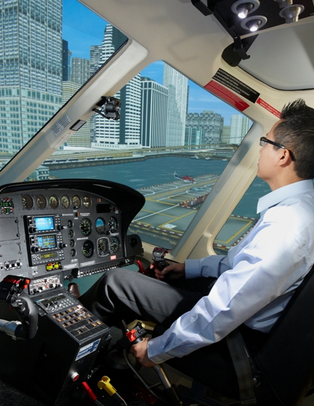 CAE helicopter simulator