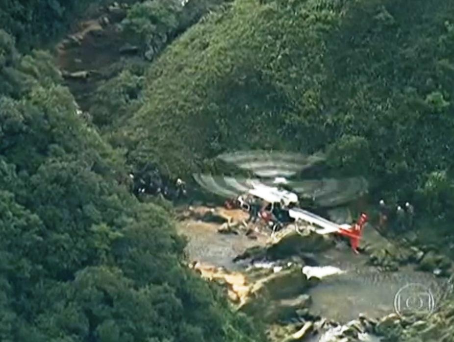 Helicóptero Águia resgata 49 pessoas em Paranapiacaba/SP