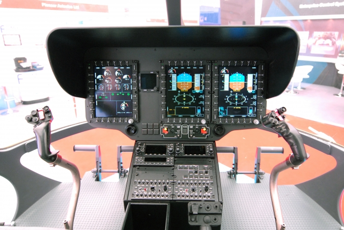 EC145T2 cockpit