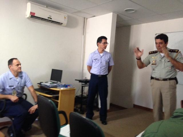 Maj PM Muniz – Diretor de Aviação da CMG fez o agradecimento final, ressaltando a excelente integração entre DTCEA, GRAER e CMG.