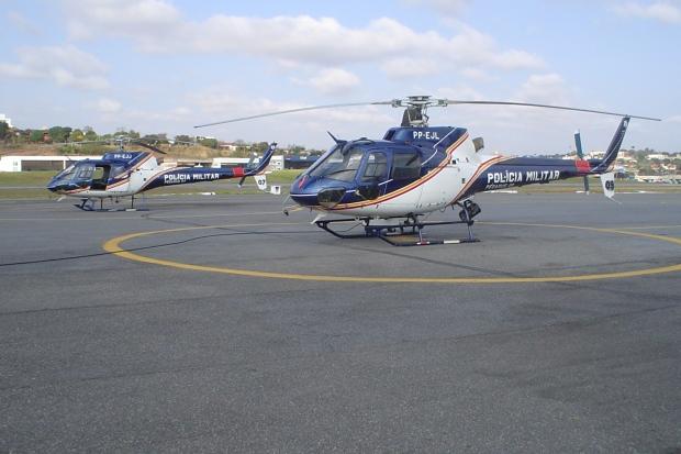 Uso de linhas com cerol coloca em risco o funcionamento das aeronaves, e ainda pode ferir gravemente policiais durante a operação