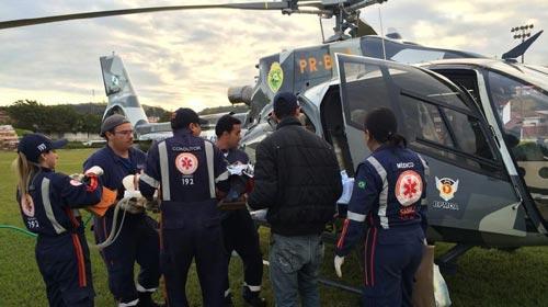 GRAer/PR leva paciente grave de Jacarezinho à Santa Casa de Londrina