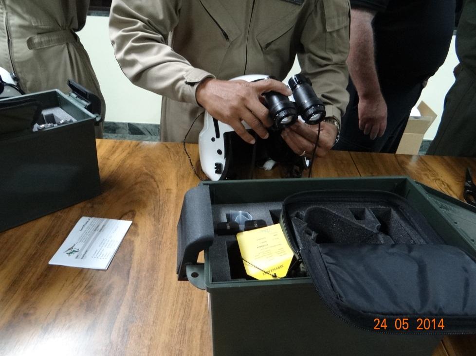 Treinamento para operação do equipamento.