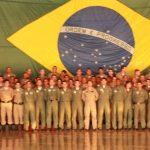 Foto: Militares da Esquadrilha Pégasus em forma após a solenidade.