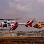 O Helibras EC-145 PR-UEA no aeroporto da Pampulha, Belo Horizonte, MG (Imagens: Roberto Caiafa)