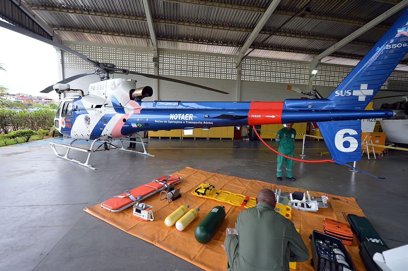 SESA - Helicóptero exclusivo para SAMU 192 - Foto Thiago Guimarães 151214 01