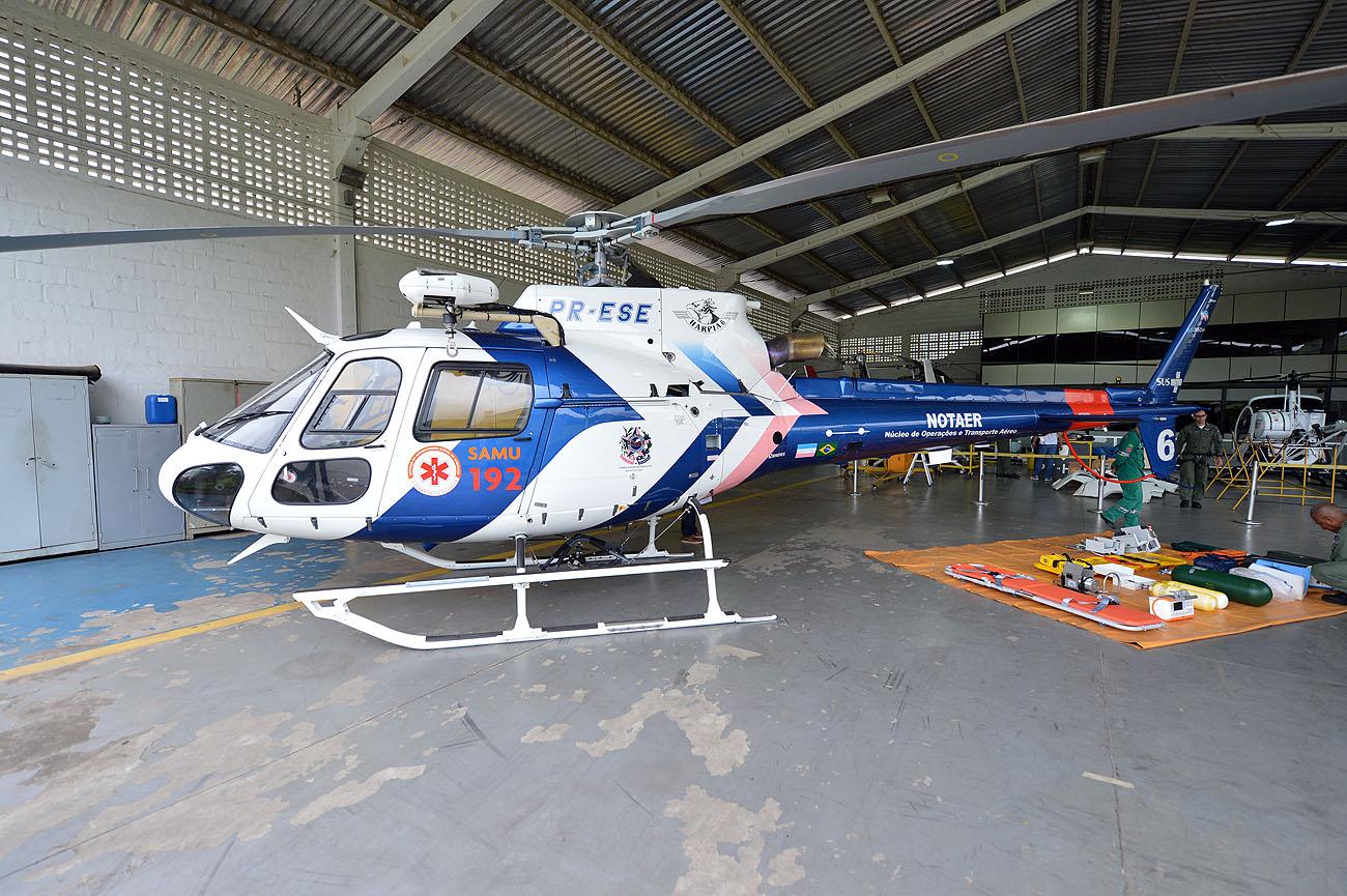SESA - Helicóptero exclusivo para SAMU 192 - Foto Thiago Guimarães 151214 02