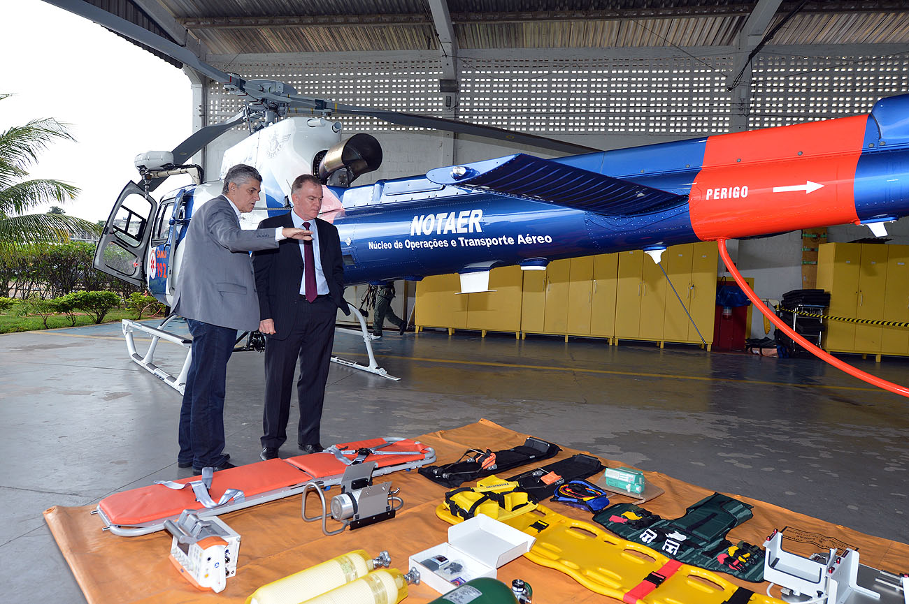 SESA - Helicóptero exclusivo para SAMU 192 - Foto Thiago Guimarães 151214 04