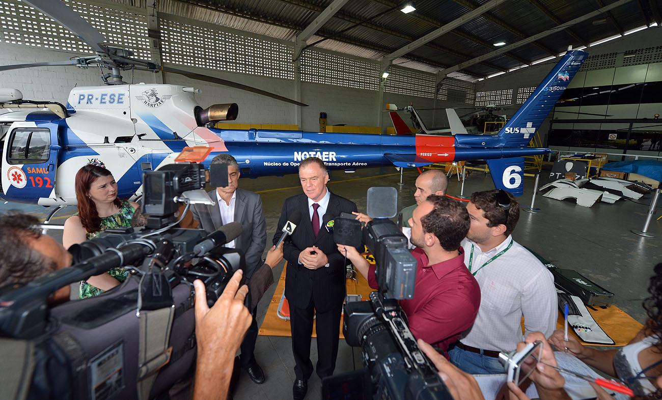 SESA - Helicóptero exclusivo para SAMU 192 - Foto Thiago Guimarães 151214 05