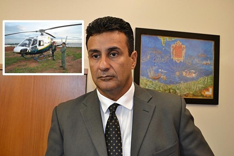 Aeronaves são usadas estrategicamente em todo o Estado e principalmente em Cuiabá.  Ednilson Aguiar/Secom-MT