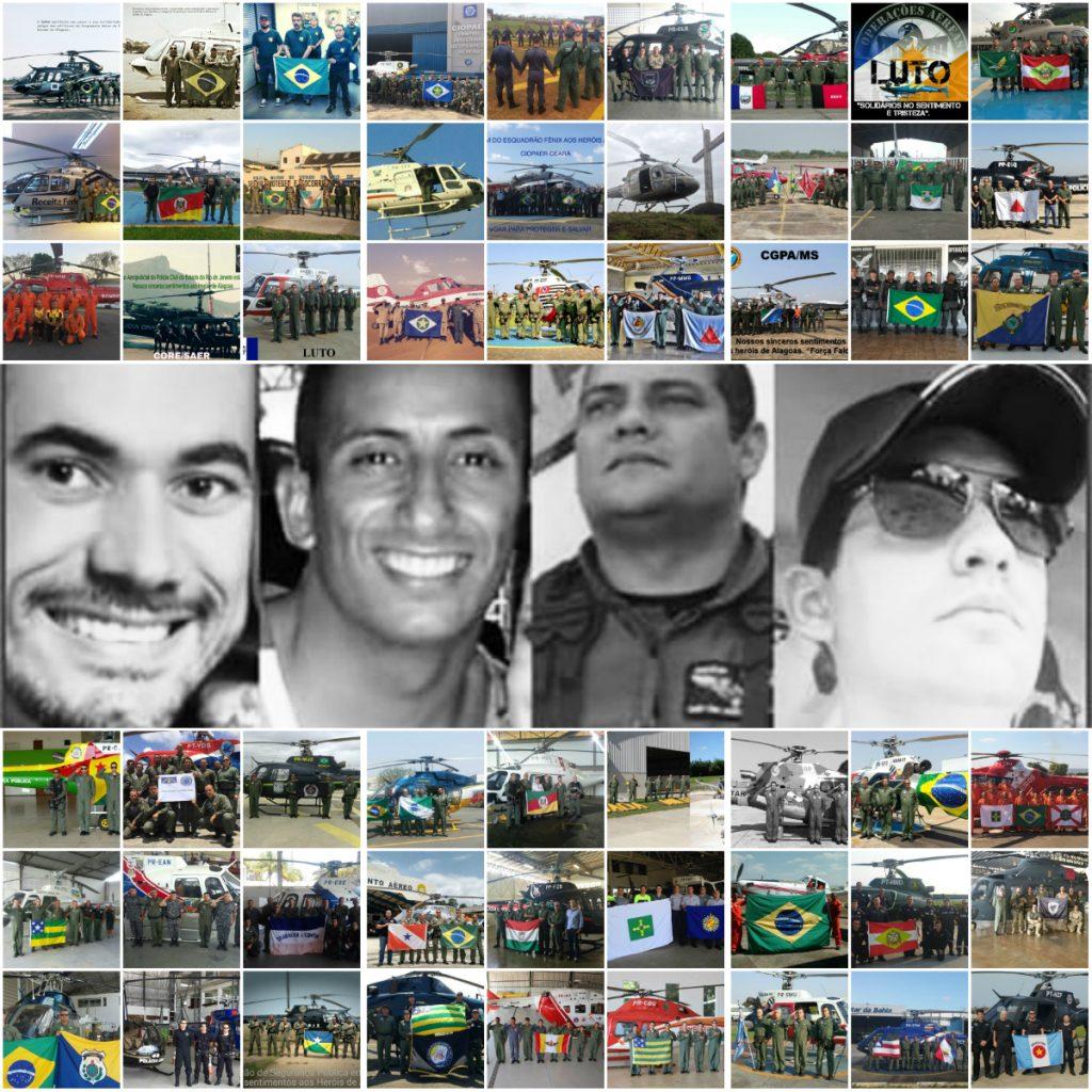 FORÇA FALCÃO!!!! Homenagem da Aviação de Segurança Pública do Brasil