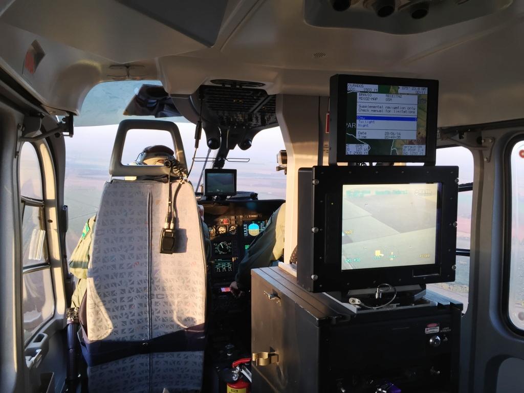 Câmera Flir do EC135 da Receita Federal