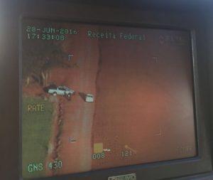 Interceptação com auxílio da aeronave