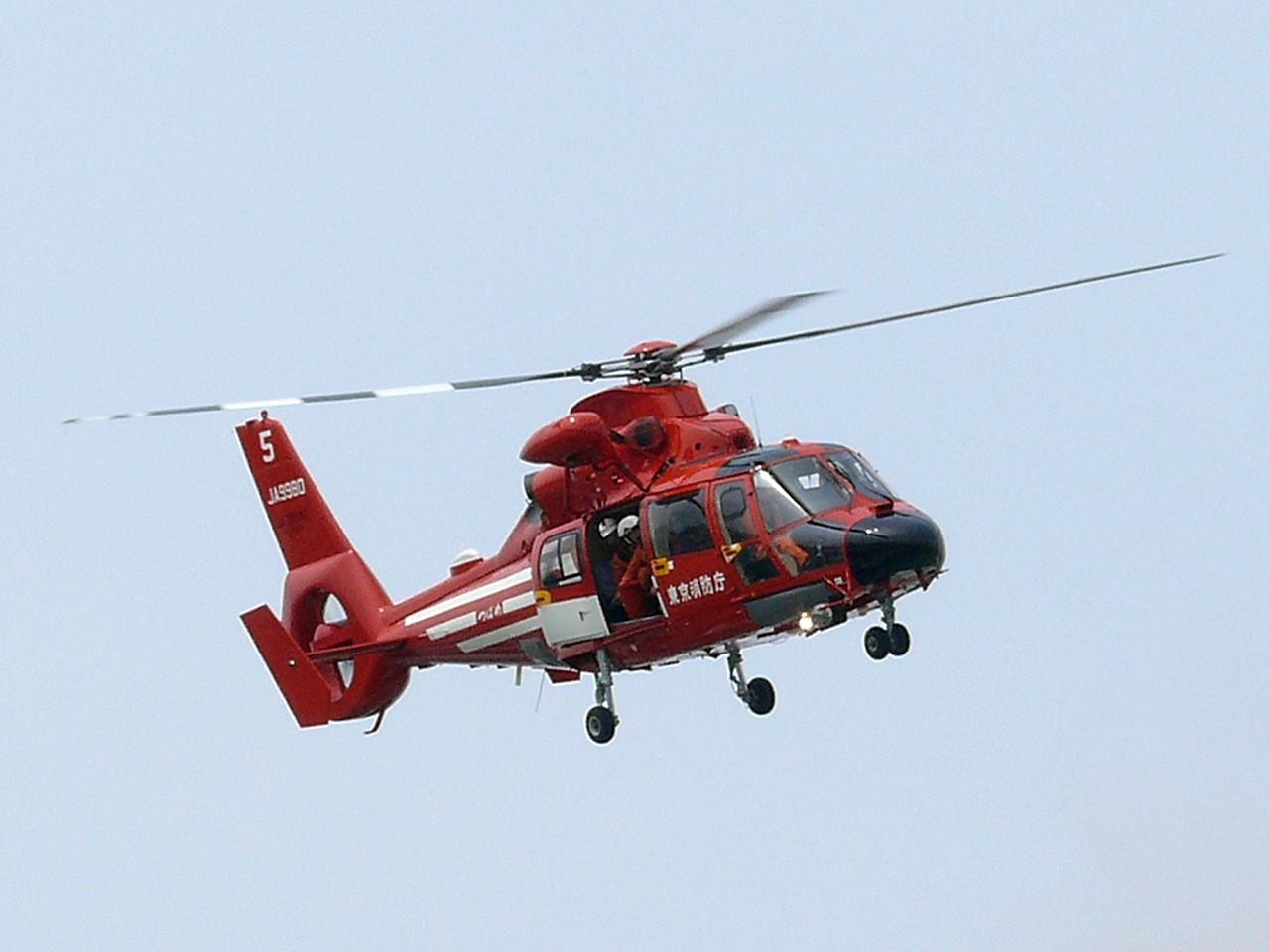 O Corpo de Bombeiros de Tóquio está equipando seus Helicópteros EC224s Airbus para combater incêndios em altura elevada. Foto: Mamo
