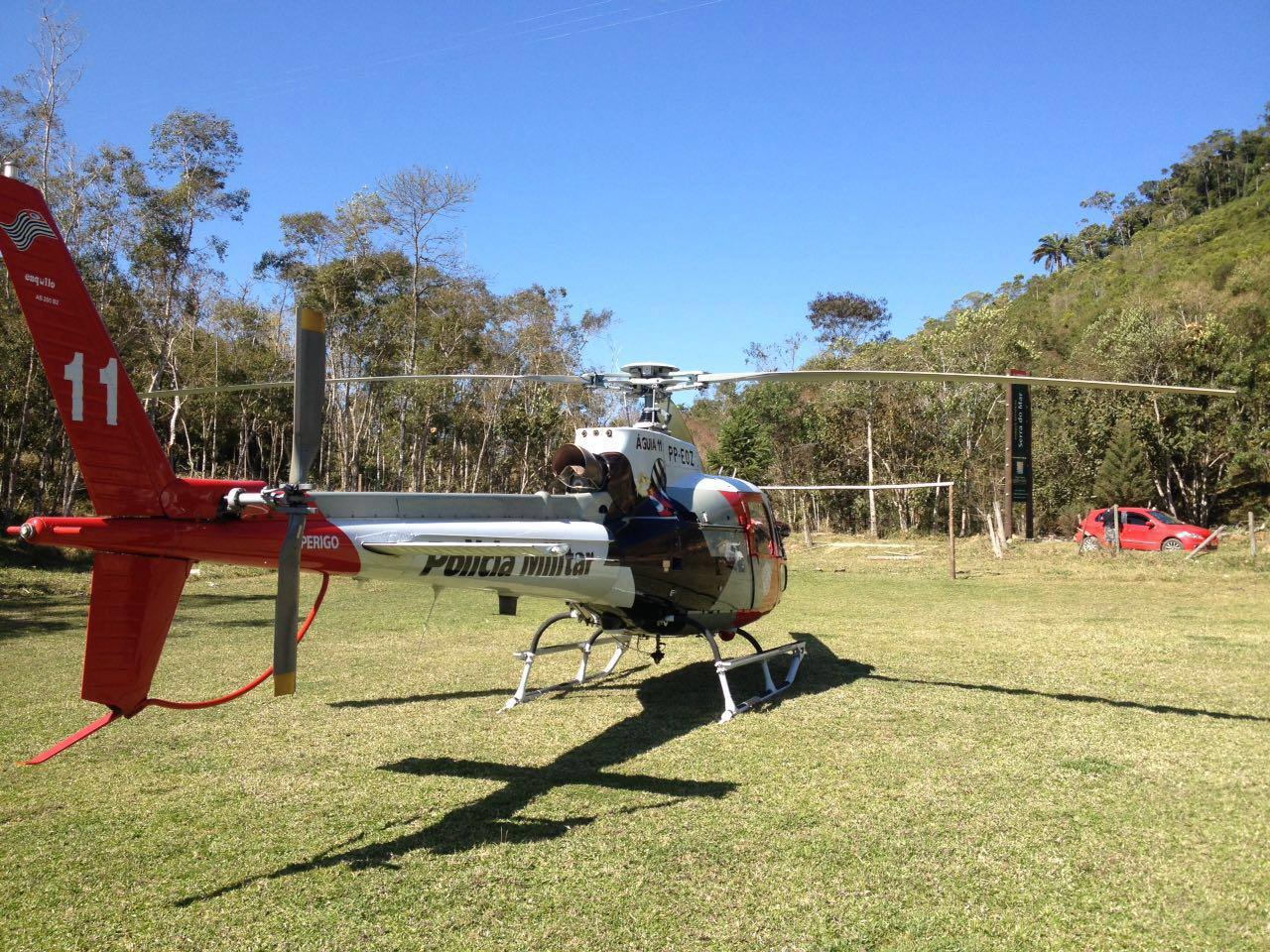 GRPAe/SP: Águia 11 apoia Corpo de Bombeiros em ocorrência de acidente motociclístico