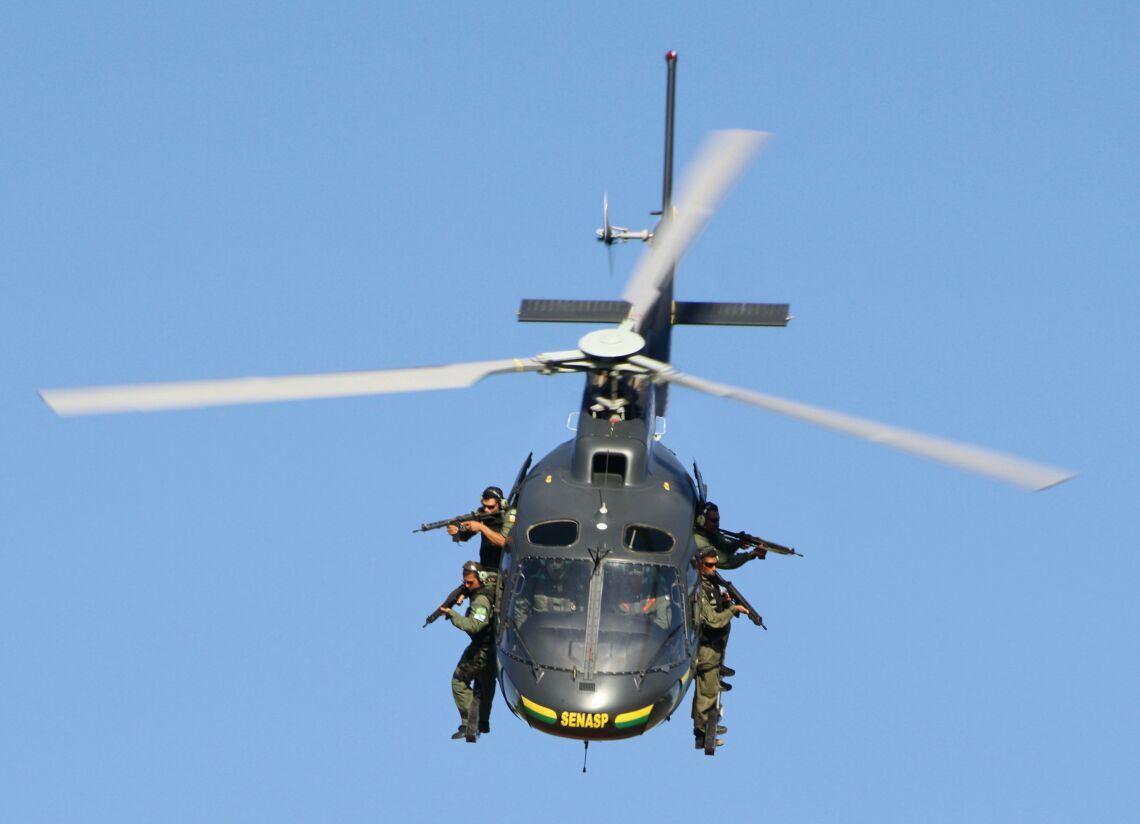 Aviação da Força Nacional de Segurança Pública. Foto  Divulgação Força. 4a3419b7f04