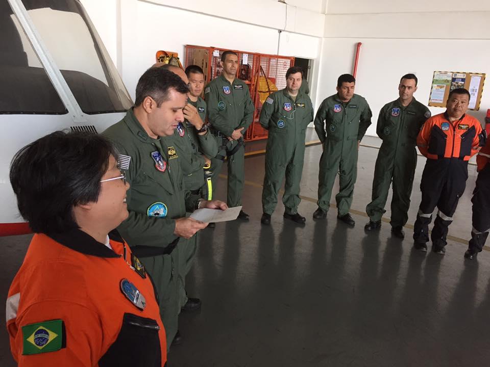 Grupamento Aéreo treina médicos do Grupo de Resgate e Atendimento à Urgências