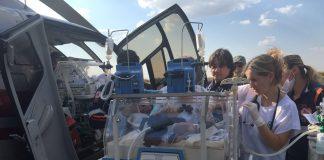 Falcão 03 do Graer transporta recém-nascido de 5 dias de Paranavaí para Londrina