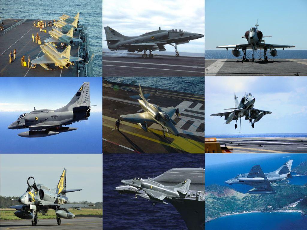 McDonnell Douglas AF-1/AF-1A Skyhawk (Todas as fotos: Marinha do Brasil)