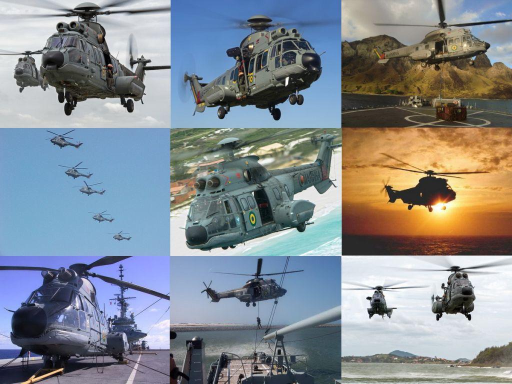 Aeronave UH-14 Super Puma/Cougar. (Todas as fotos: Marinha do Brasil)