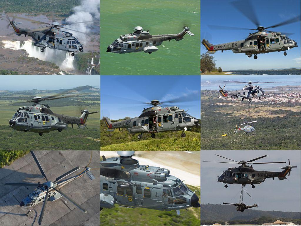 Aeronave UH-15 Super Cougar. (Todas as fotos: Marinha do Brasil)
