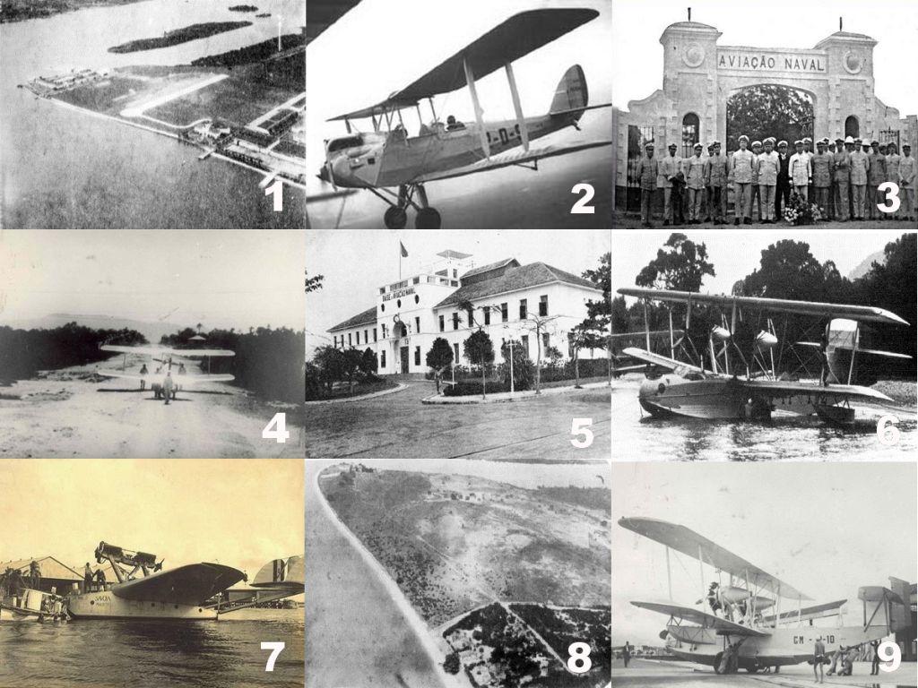 A mudança da EAvN para a Ponta do Galão e a criação dos Centros de Aviação Naval marcaram a expansão da Aviação Naval, assim como a aquisição de novas aeronaves. (Fotos 1, 2, 5, 6 e 8, SDM via naval.com.br; Fotos 4 e 9, Marinha do Brasil via Giulliano B. Frassetto; Fotos 3 e 7, Marinha do Brasil)