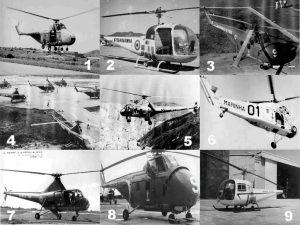 Primeiros modelos de helicópteros utilizados pela Marinha do Brasil a partir de meados da década de 50. (Todas as fotos: ComForAerNav)