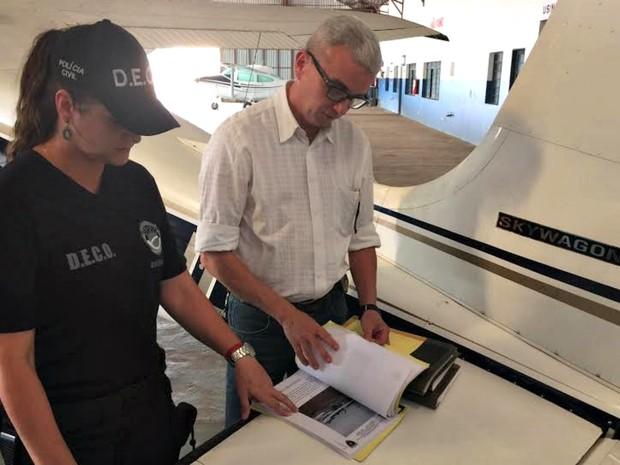 Aeronave foi apreendida e condenada após verificação da polícia e perito (Foto: Graziela Rezende/G1 MS)
