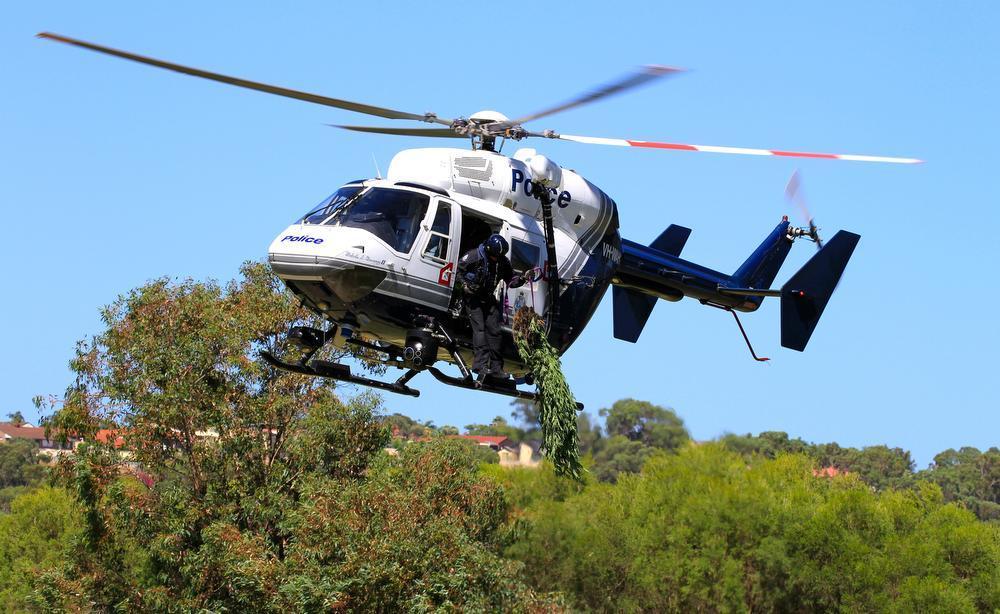 A Polícia Air Wing poderia ser melhor aproveitada em missões de perseguição. Foto: ROB REYNOLDS