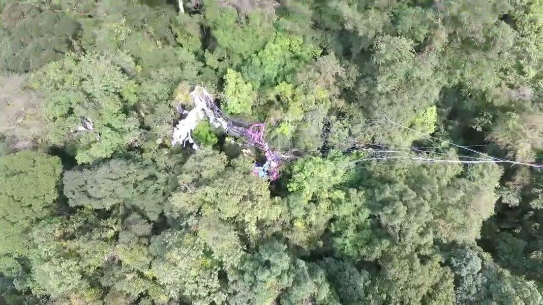 Imagem captada pelo drone da PRF.