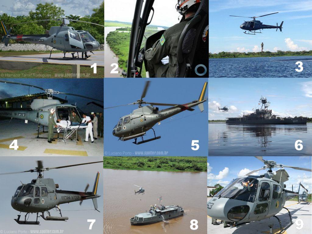 O HU-4 opera atualmente com aeronaves UH-12 Esquilo. (Foto 1, Hamana T. Rodrigues via spotter.com.br; Foto 2, MB via defesanet.com.br; Fotos 3 e 6, MB via defesaaereanaval.com.br; Foto 4, MB via perolanews.com.br; Fotos 5 e 7, Luciano Porto via spotter.com.br; Foto 8, MB via assuntosmilitares.jor.br; Foto 9, MB via armamentoedefesa.blogspot.com.br)