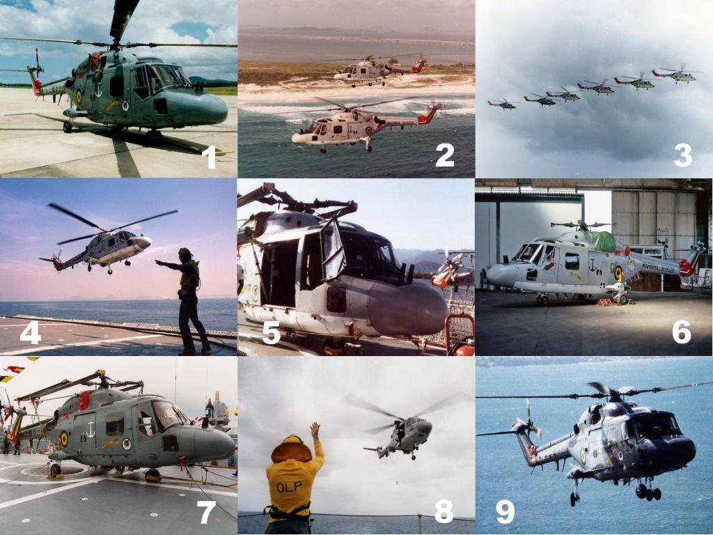 Westland Lynx Mk.21 - SAH-11. (Fotos 1, 3, 4 e 8, Westland/Agusta via alide.com.br; Foto 2, Marinha do Brasil; Foto 5, G. Poggio via naval.com.br; Foto 6, Chris Cornwall; Foto 7, NTG Pictures; Foto 9, Jackson Flores Jr. via naval.com.br)