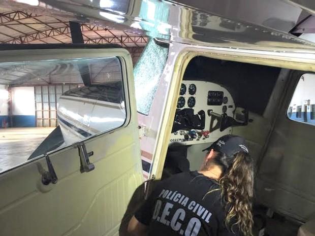 Polícia está em terceira fase de operação que verifica segurança de voo (Foto: Graziela Rezende/G1 MS)