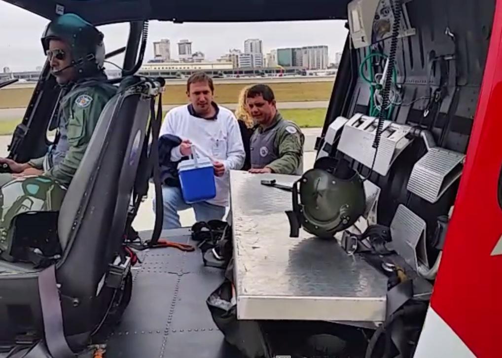 Mais um transporte de coração é realizado pelo Grupamento Aéreo de São Paulo