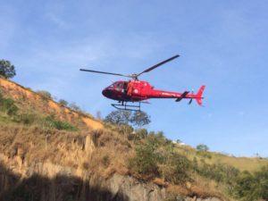 GOA/RJ: Com ajuda de helicóptero, cão dálmata é resgatado em Volta Redonda/RJ