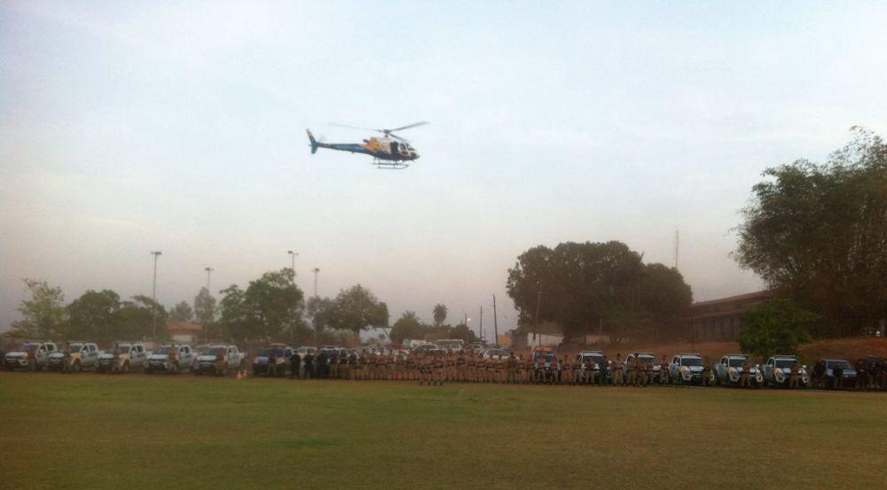 Equipe do CIOPAER/TO realiza patrulhamento aéreo em Araguaína durante operações policiais