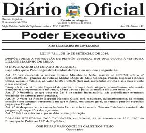 Estado de Alagoas autoriza indenização a família de soldado morto em queda de helicóptero