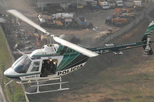 Helicóptero Falcão da PM do Paraná – Imagem de aquivo AEN