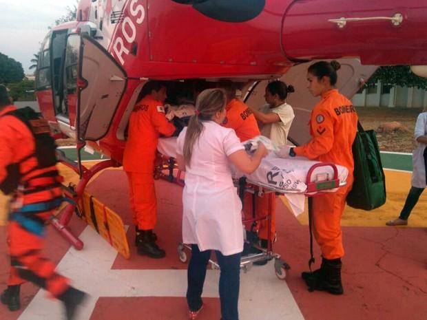 Resgate 03 resgata menino com traumatismo craniano ao ser atingido por aparelho de TV