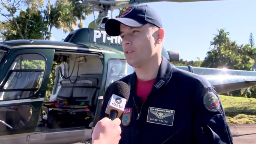 Helicóptero dos bombeiros volta a atuar no Vale do Itajaí e Litoral Norte