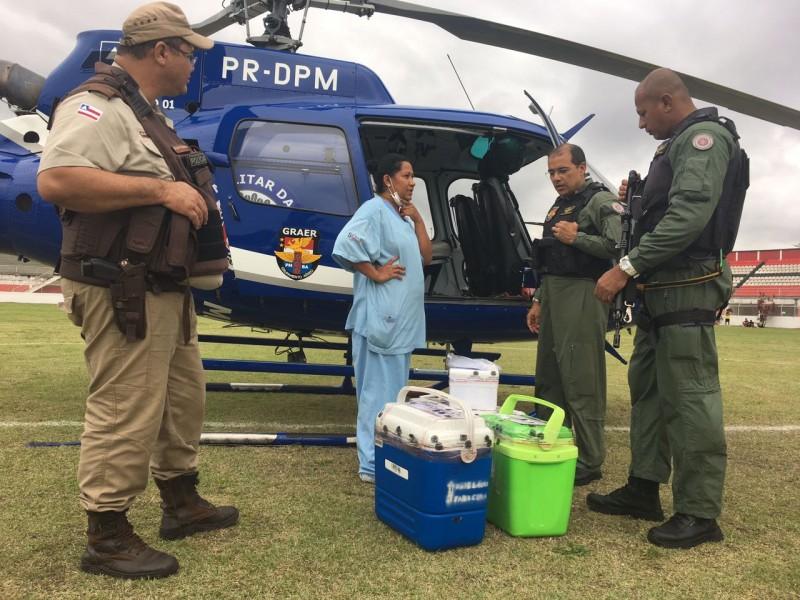 GRAer vence o tempo e transporta órgãos de Alagoinhas para Salvador