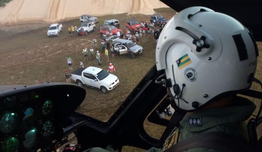 GTA Sergipe resgata jovem vítima de capotamento de jeep no Abaís