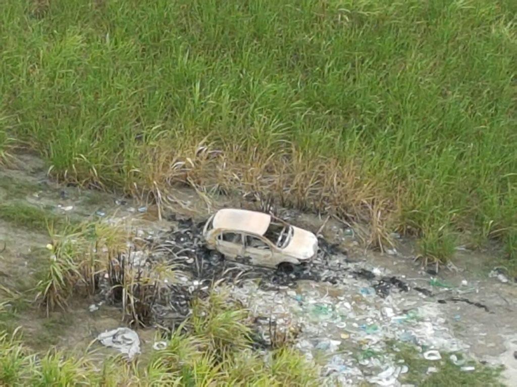 Helicóptero da Segurança Pública identifica ponto de desmanche de carros em Maceió
