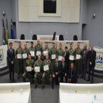 Batalhão de Aviação da PM de Lages recebe homenagem da Câmara de Vereadores