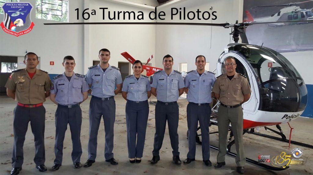 Selecionados os policiais da XVI Turma de Pilotos Policiais do GRPAe