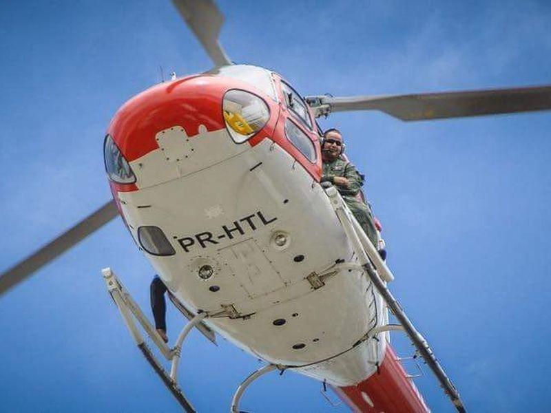Helicóptero resgata criança com suspeita de intoxicação por cocaína