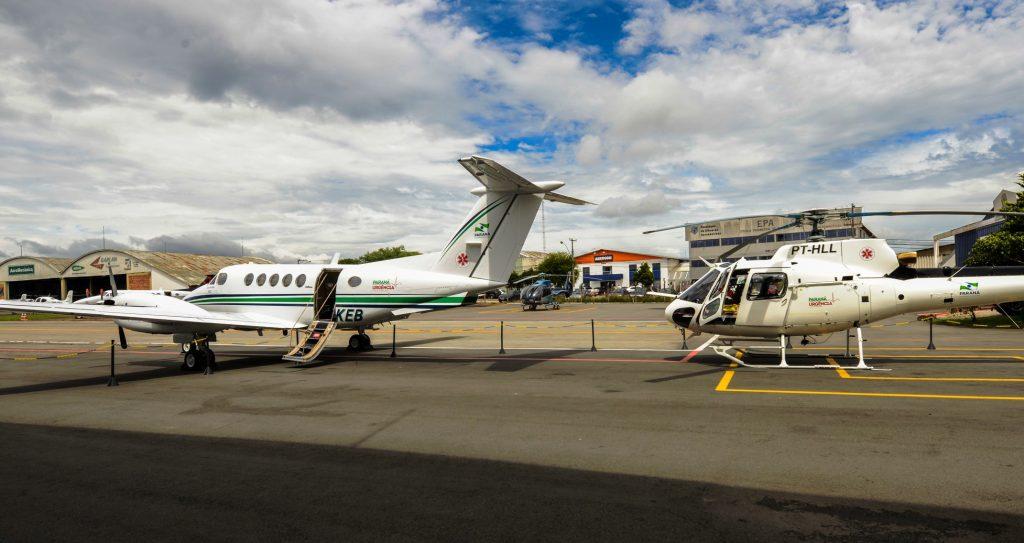 Governador Beto Richa participou nesta manha da entrega das aeronaves para urgencias medicas,no aeropoto do Bacacheri.Curitiba,15/01/2014. Foto - Antonio Costa