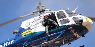 Helicóptero Águia da PM/MT- Foto: Ailton Lima